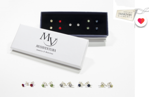 Set pendientes con Swarovski Elements