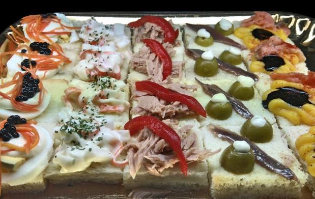 Deliciosa bandeja de canap s variados por 9 oferta con - Ofertas en canapes ...
