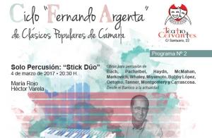 Fernando Argenta: solo percusión T. Cervantes