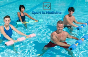 1 mes de natación + ejercicios en el agua