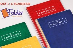 Pack escolar: 6 cuadernos y carpeta