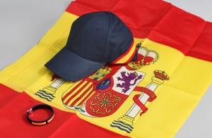 Anima a la selección: bandera, gorra y pulsera