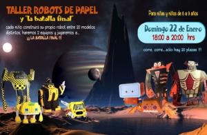 Taller robots papel para niños ¡20 plazas!
