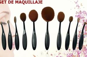 Set brochas de maquillaje 10 piezas
