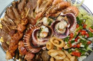 Tabla de carne y marisco para 2 personas