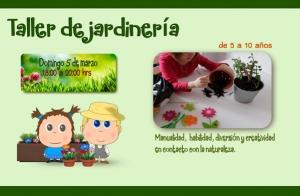 Taller jardinería para niños ¡20 plazas!