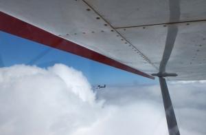Increíble vuelo en ultraligero