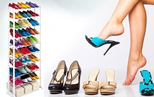 Zapatero shoe rack para 30 pares por oferta con for Zapatero para 30 pares de zapatos